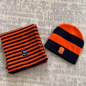 Syracuse University scarf and hat.